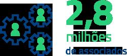 2,7 milhões de associados