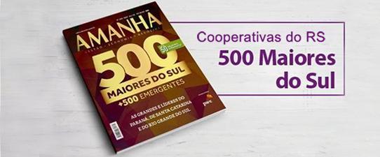 500 Maiores do Sul relaciona 12 cooperativas do RS