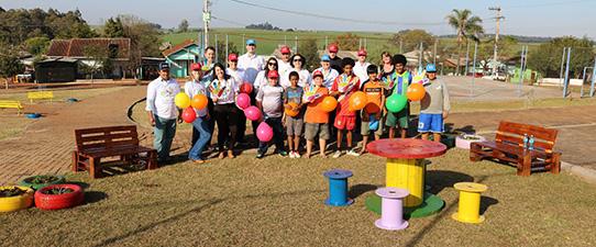 Cooperativas se unem para a revitalização de um espaço público em Ibirubá