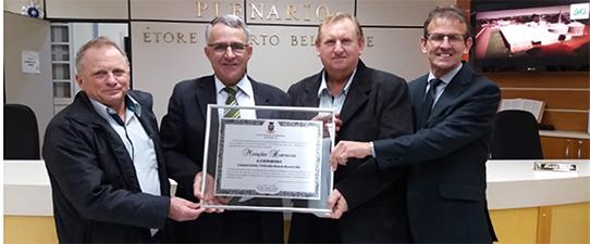 Cotrirosa é homenageada pela Câmara de Vereadores de Santa Rosa