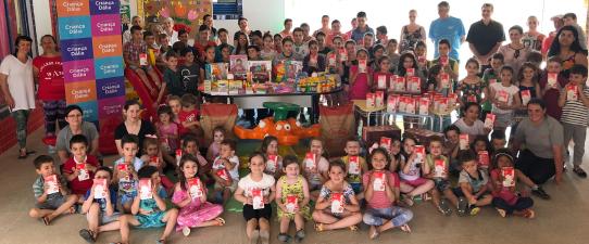 Criança Dália beneficia 288 estudantes de escolas em Itapuca