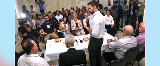 Governador Eduardo Leite recebido na Casa do Cooperativismo na Expodireto