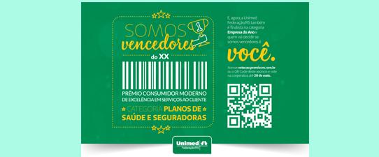 Unimed Federação/RS é finalista no Prêmio Consumidor Moderno