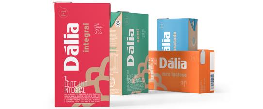 Leite Dália com mais cor e novo layout