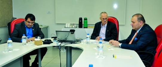 Sistema recebe embaixador da Macedônia do Norte