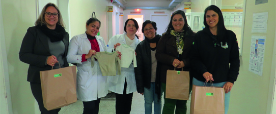Projeto Social Mãos do Bem entrega doações para a maternidade do HU