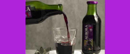 Suco de uva integral Aurora está entre os Melhores Alimentos do Mercado