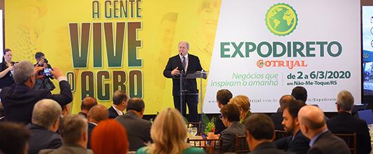 Expodireto Cotrijal 2020 é lançada em Brasília