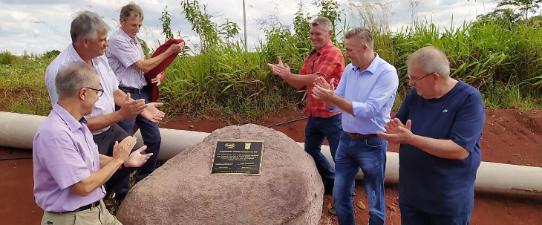 Pedra Fundamental do Condomínio Avícola Cruzeiro do Sul é descerrada