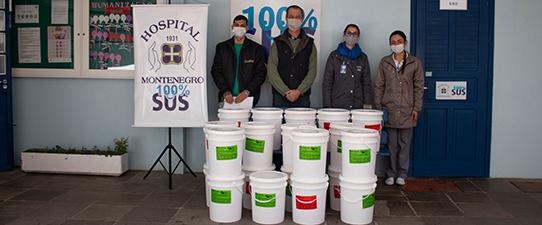 Ecocitrus doa quase 500 quilos de suco concentrado ao Hospital Montenegro