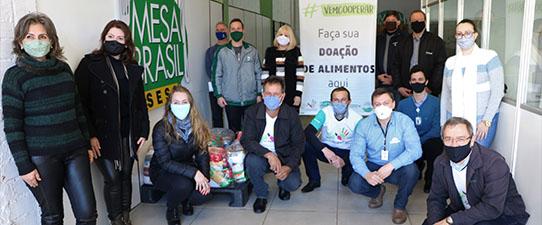 Cooperativas do Alto Uruguai arrecadam mais de sete toneladas de alimentos