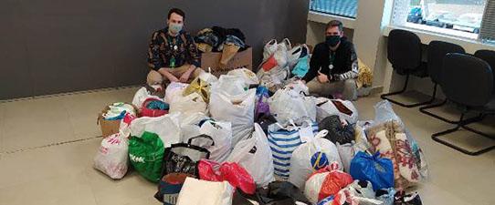 Instituto Unimed VTRP doa mais de 600 quilos de alimentos, roupas e agasalhos