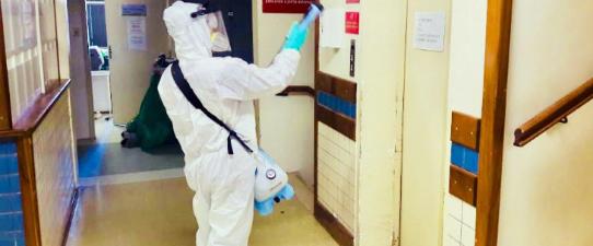 Cootravipa realiza ação solidária de sanitização em instituições públicas