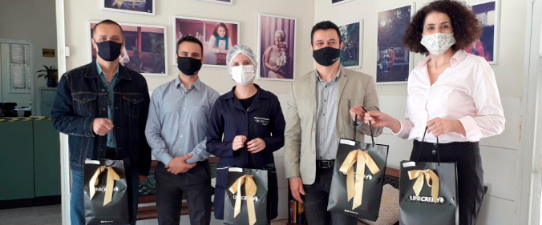"""Unicred Ponto Capital doa mais de 5.700 máscaras com projeto """"Eu Transformo"""""""