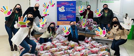 Dia C: campanha do Sicredi arrecada cerca de 750 toneladas de alimentos e beneficia mais de 106 mil pessoas